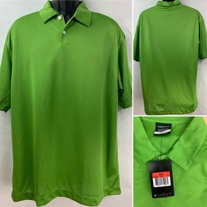 NWT Nike Golf Dri Fit Mens Green Golf Polo Shirt L